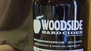 Hard apple cider is produced at the Woodside