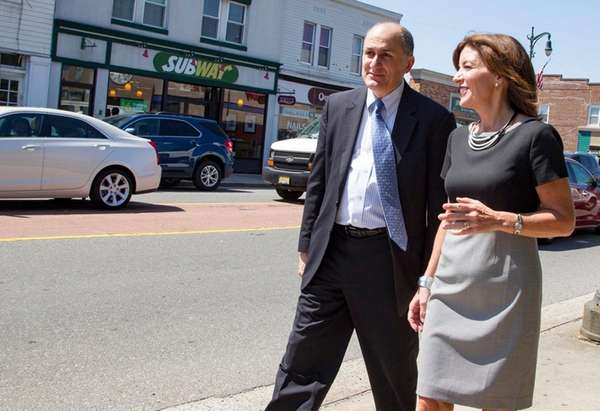 Lt. Gov. Kathy Hochul with Westbury Mayor Peter