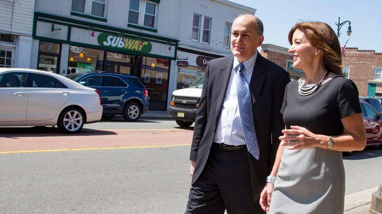 Lt. Gov. Kathy Hochul with Westbury Mayor Peter