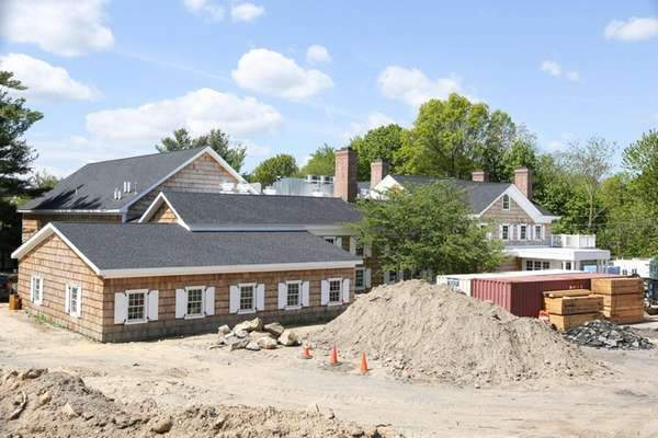 Construction continues at the site of the historic