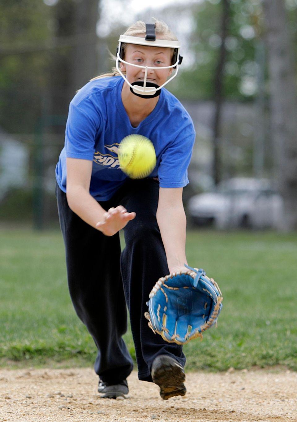 Islip second baseman Giana Edwards, who wears a