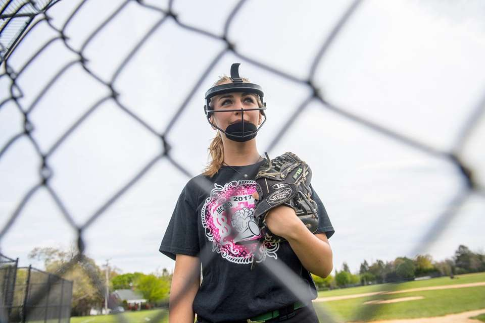 Kat Fennell, a junior pitcher at Westhampton, was