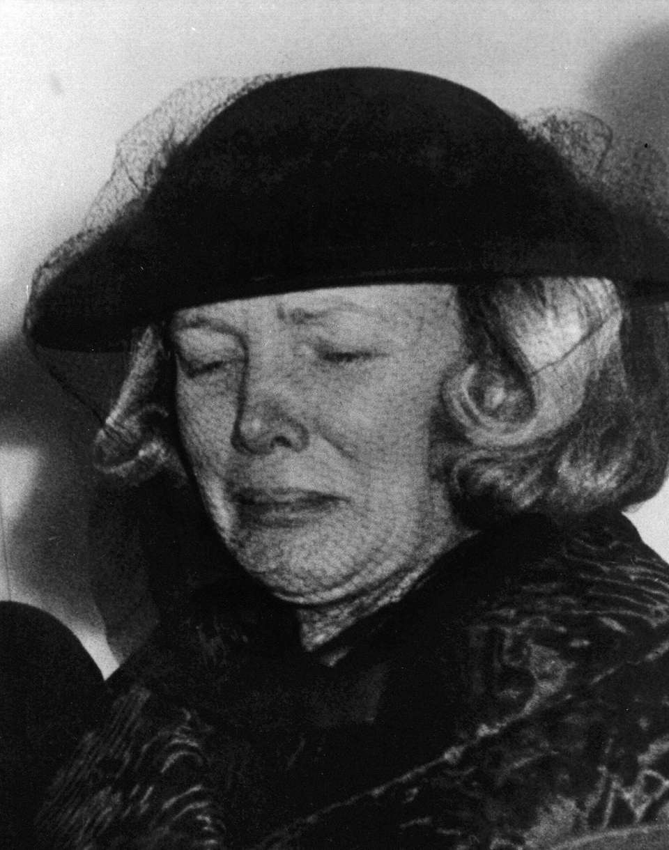 A grief-stricken Ann Woodward, widow of sportsman-socialite William