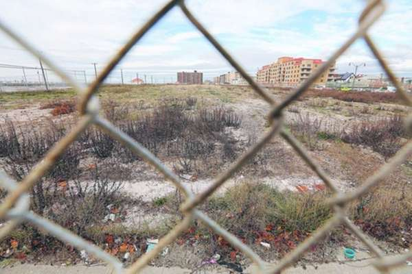 Developers for the Long Beach Superblock property, seen