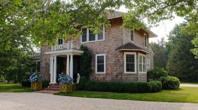 This four-bedroom Bellport home has views of gardens