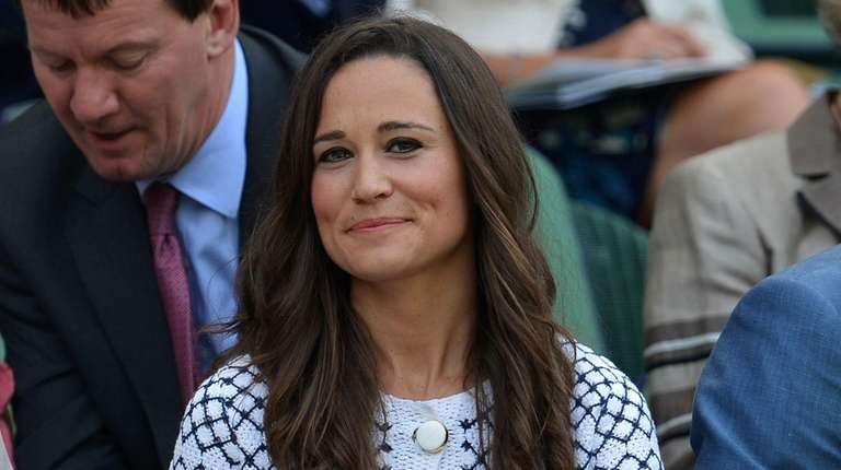Pippa Middleton sits in the Royal Box on