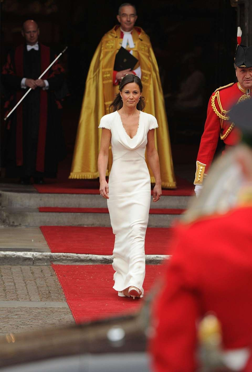 Pippa Middleton arrives at the West Door of