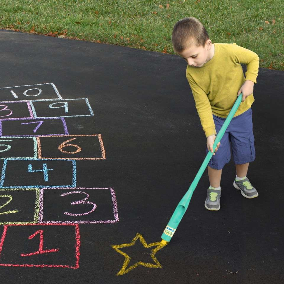 Simply pop any stick of sidewalk chalk into