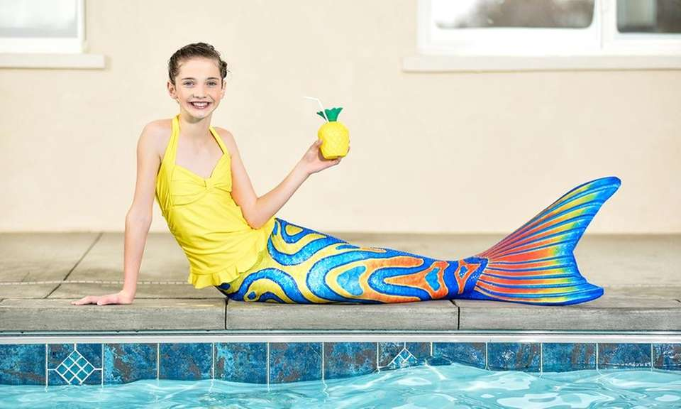 Kids can swim in these mermaid tails, made