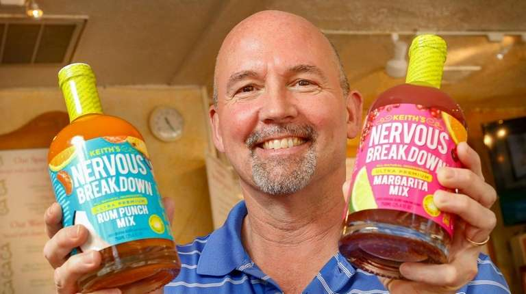 Keith Davis, with bottles of his Keith's Nervous