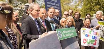 New York Attorney General Eric Schneiderman is joined