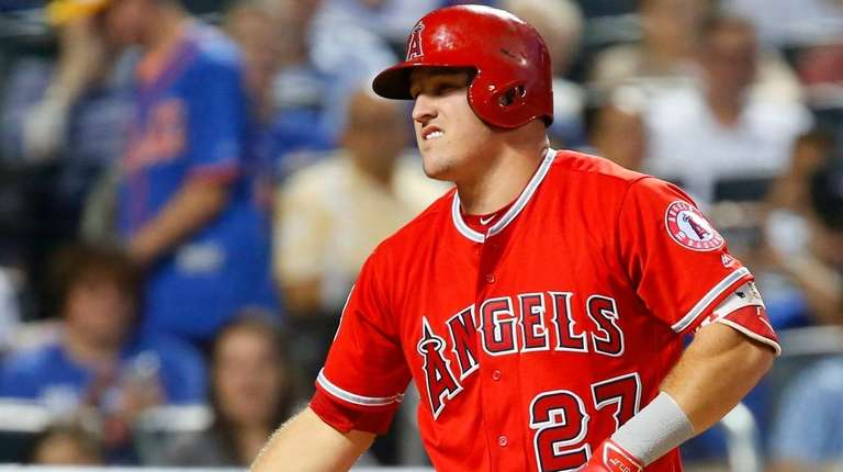 Mike Trout of the Los Angeles Angels of