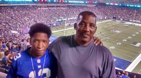 Jeffrey Hudson, 57, and his son Isaiah Bright,