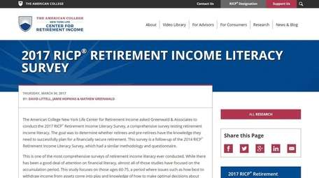 Three in four retirement-age Americans failed the RICP