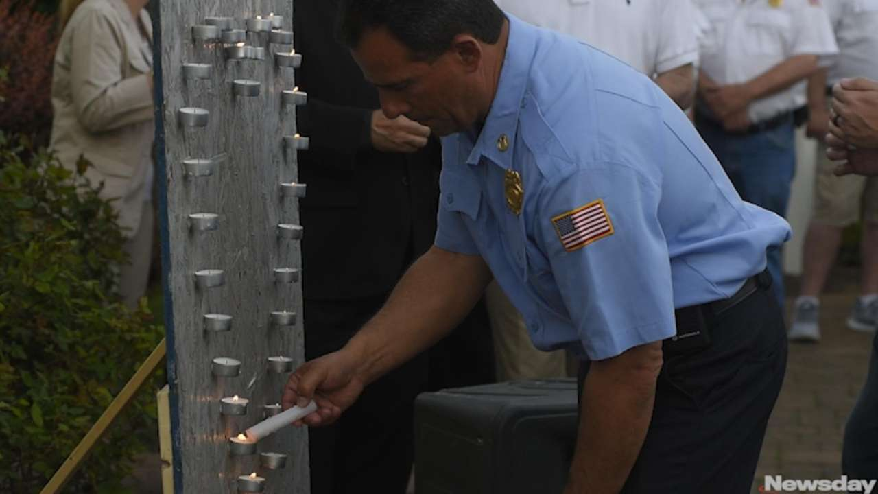 Hundreds attended a candlelight vigil in Lindenhurst on