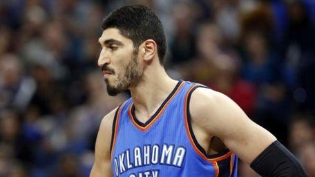 The Oklahoma City Thunder's Enes Kanter, of Turkey,