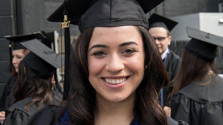 Ashley Bruno, 21, of Lake Ronkonoma, at St.