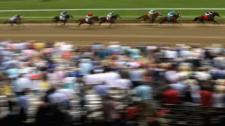 Horses race in The 8th Running of The