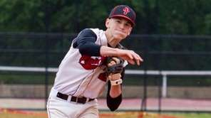Plainedge's Jason Bottari turns a double play as