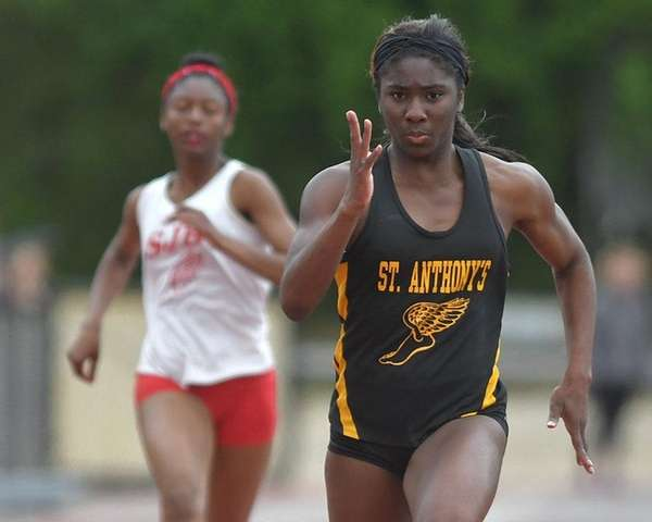 Halle Hazzard of St. Anthony's sprints to victory
