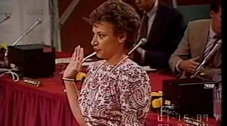 Donna Myrill, Nassau's new investigations commissioner, testified at