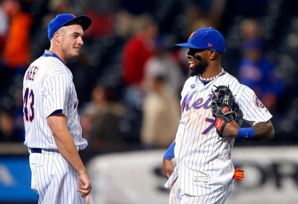 Jose Reyes and Addison Reed of the New