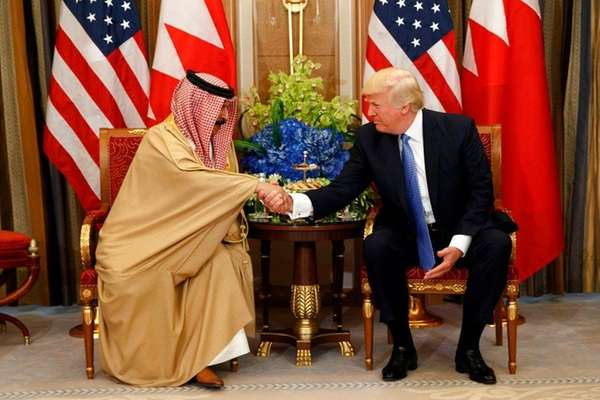 Trump meeting with Arab Gulf nation leaders