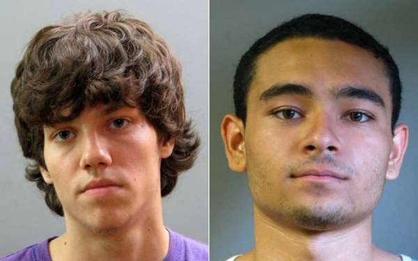 Dylan Silber, left, 17, of Mineola, and Arsati