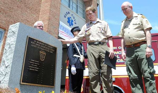 Conor Lynch, 18, center, captain of the Eagle