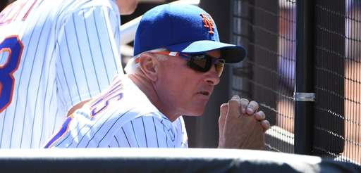 New York Mets manager Terry Collins looks on