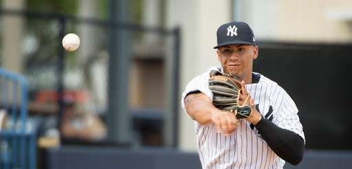 Yankees shortstop prospect Gleyber Torres, shown here during