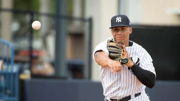 Yankees shortstop prospect Gleyber Torres, shown here during