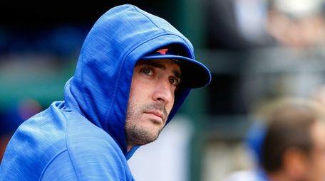 Matt Harvey of the Mets looks on during