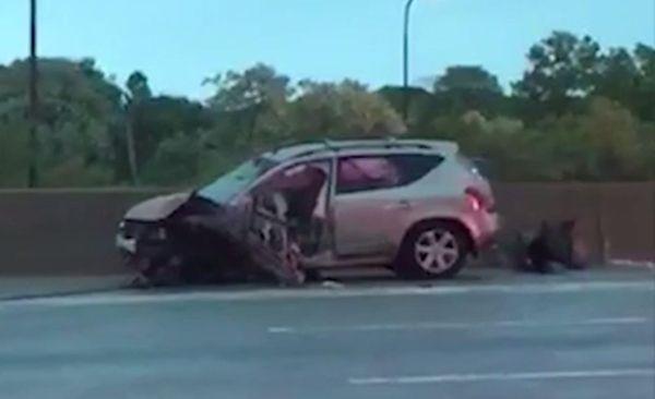 An early morning crash involving a wrong-way driver