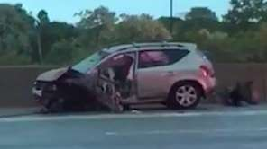 An early morning crash involving a wrong-way driver