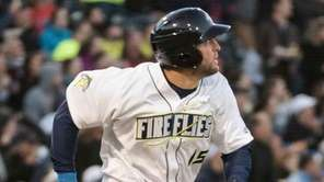 Columbia Firefly's Tim Tebow watches his home run