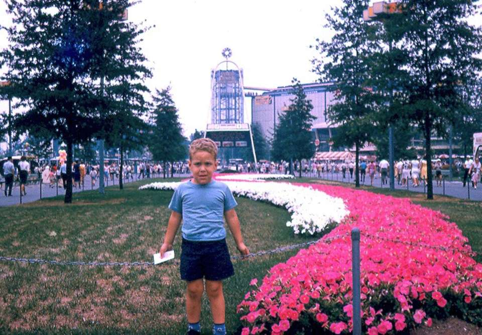My unhappy brother at the World Fair, 1965.