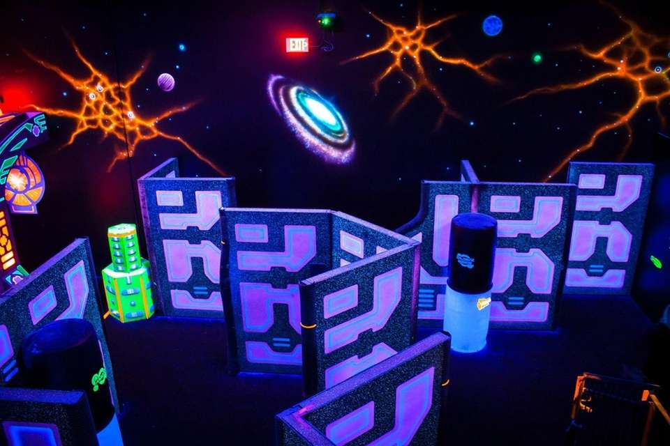 Lazerland (54A Motor Pkwy., Commack) gives laser tag