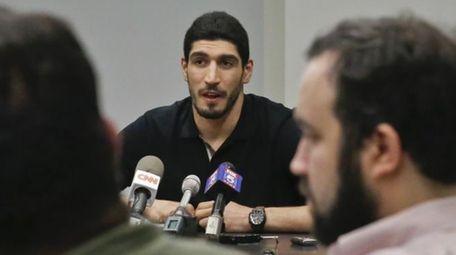 Oklahoma City Thunder NBA basketball player Enes Kanter,