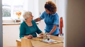A home-health aide must be paid for time
