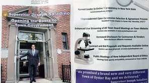 A recent mailing by Oyster Bay Supervisor Saladino