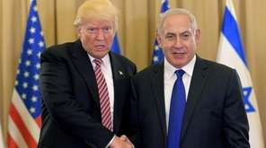 President Donald Trump meets with Israeli Prime Minister