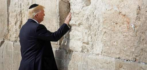 President Donald Trump visits the Western Wall in