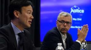 Altice USA CEO Dexter Goei, left, and Altice