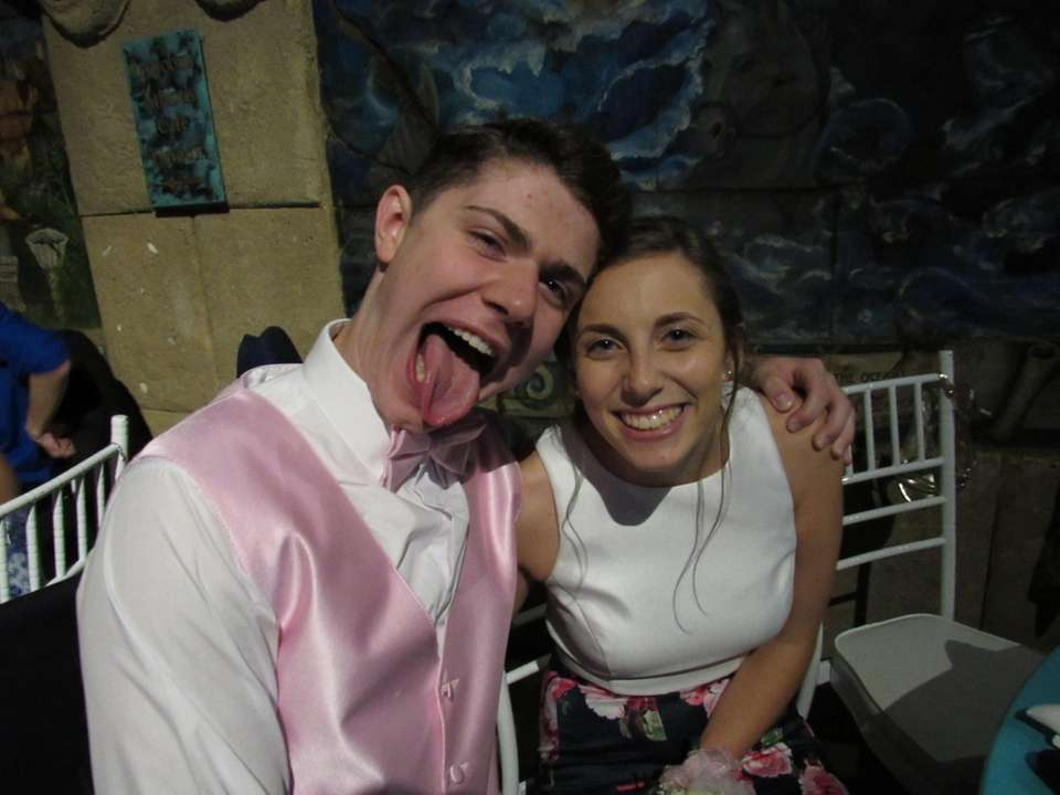Patchogue-Medford High School students Sam Leis and Erin