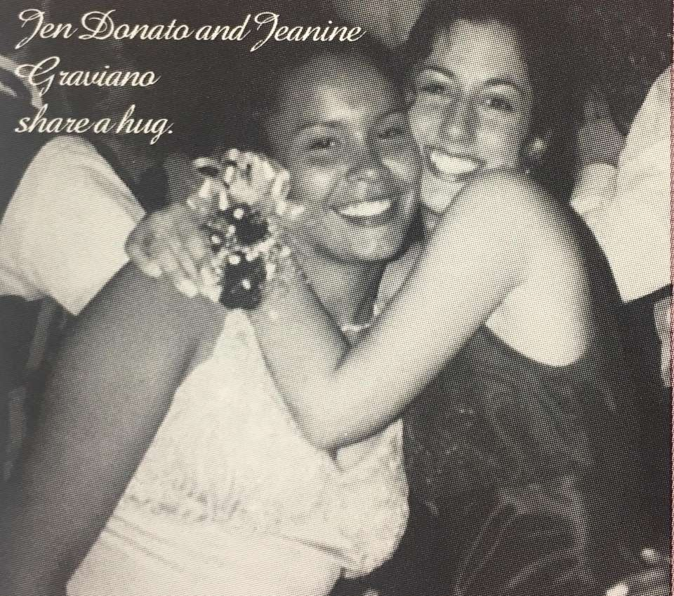 Patchogue-Medford High School juniors Jen Donato and Jeanine