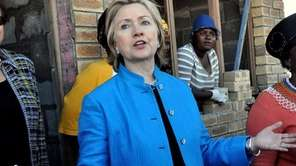 Secretary of State Hillary Rodham Clinton visits a