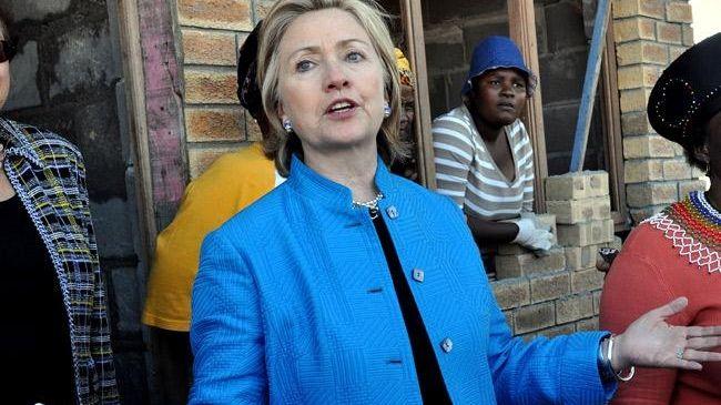 Secretary of State Hillary Rodham Clinton visits a