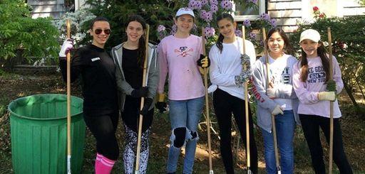 Members of Girl Scout Troop 3518 in Syosset