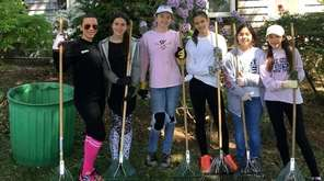 Members of Girl Scout Troop 3518 in Syosset